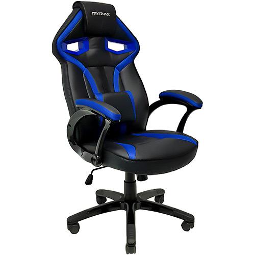 Cadeira Gamer Mymax Mx1 Giratória Preta/Azul